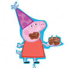 Peppa Pig Party Hat Super Shape Foil Balloon